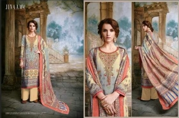 JINAAM DRESS SABIA PASHMINA PRINTS WITH KASHMIRI WORK WINTER COLLECTION E (6)