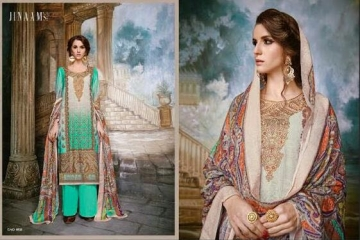 JINAAM DRESS SABIA PASHMINA PRINTS WITH KASHMIRI WORK WINTER COLLECTION E (7)