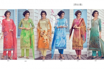 JINAAM LATEST CATALOG MILAN LAWN SALWAR SUIT AT BEST RATE BY GOSIYA EXPORTS (9)