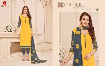 JINESH NX BY ARMANI CATALOG BOMBAY COTTON JEQAURD WORK SUITS WHOLESALER SUPPLIER BEST RATE BY GOSIYA EXPORTS SURAT (9)