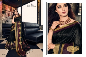 JOH RIVAAJ SERIES 2101 TO 2109 DESIGNER SAREES CATALOG BEST ARET BY GOSIYA EXPORTS SURAT (9)