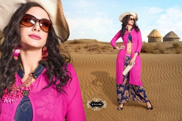 JUGANI STICHED GEORGETTE KURTI & PLAZOO COLLECTION WHOLESALE DEALER BEST RATE BY GOSIYA EXPORTS SURAT (19)