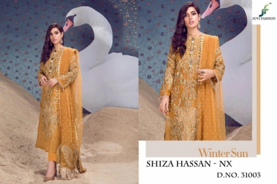 JUVI FASHION SHIZA HASSAN NX NET FABRIC WITH HEAVY  (2)