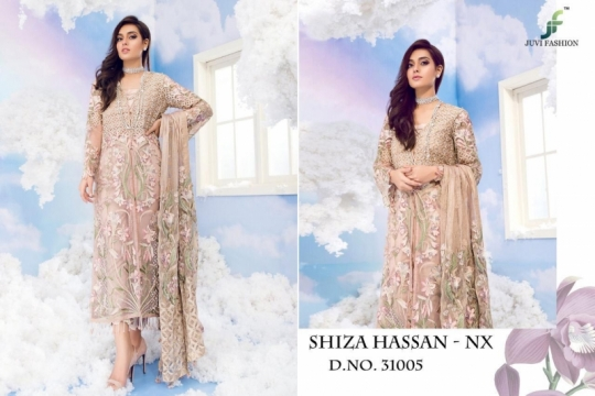 JUVI FASHION SHIZA HASSAN NX NET FABRIC WITH HEAVY  (4)