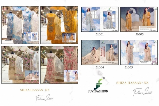 JUVI FASHION SHIZA HASSAN NX NET FABRIC WITH HEAVY  (5)