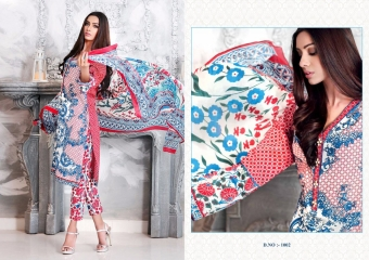 K VIDHAN LORENZA PURE COTTON PRINT EMBROIDERED SUITS WHOLESALER BEST RATE BY GOSIYA EXPORTS SURAT (2)