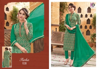 K9 FARHA CHANDERI SILK GHADWAL WITH HANDWORK SUITS CATALOG WHOLESALE BEST RATE (1)