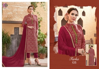 K9 FARHA CHANDERI SILK GHADWAL WITH HANDWORK SUITS CATALOG WHOLESALE BEST RATE (10)