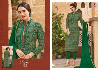 K9 FARHA CHANDERI SILK GHADWAL WITH HANDWORK SUITS CATALOG WHOLESALE BEST RATE (3)