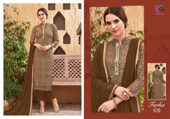 K9 FARHA CHANDERI SILK GHADWAL WITH HANDWORK SUITS CATALOG WHOLESALE BEST RATE (5)
