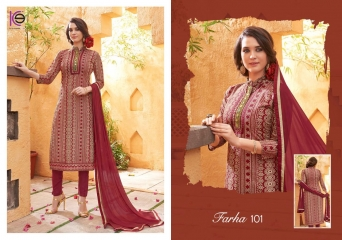 K9 FARHA CHANDERI SILK GHADWAL WITH HANDWORK SUITS CATALOG WHOLESALE BEST RATE (7)