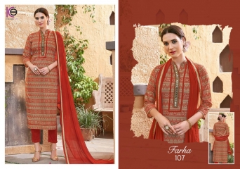 K9 FARHA CHANDERI SILK GHADWAL WITH HANDWORK SUITS CATALOG WHOLESALE BEST RATE (8)