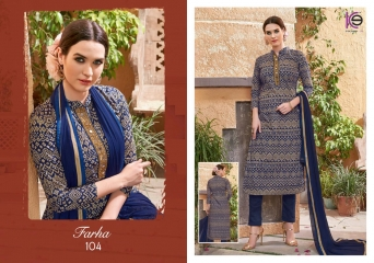 K9 FARHA CHANDERI SILK GHADWAL WITH HANDWORK SUITS CATALOG WHOLESALE BEST RATE (9)