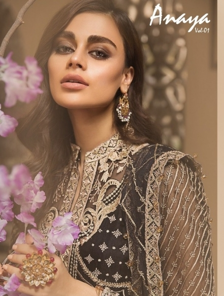 KAARA SUITS ANAYA VOL 1 PAKISTANI GEORGETTE EMBROIDERED SUITS WHOLESALE DEALER BEST RATE BY GOSIYA EXPORT SURAT (1)