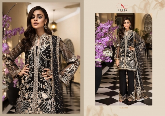 KAARA SUITS ANAYA VOL 1 PAKISTANI GEORGETTE EMBROIDERED SUITS WHOLESALE DEALER BEST RATE BY GOSIYA EXPORT SURAT (2)