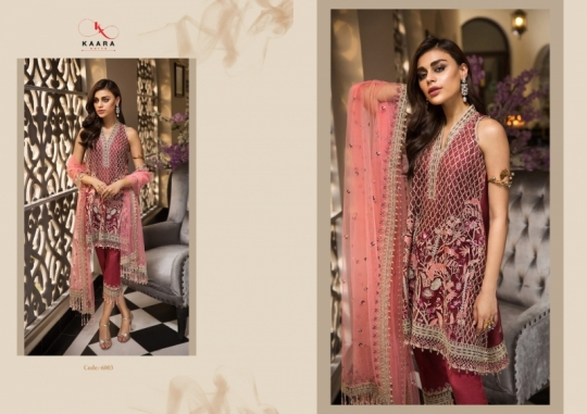KAARA SUITS ANAYA VOL 1 PAKISTANI GEORGETTE EMBROIDERED SUITS WHOLESALE DEALER BEST RATE BY GOSIYA EXPORT SURAT (3)