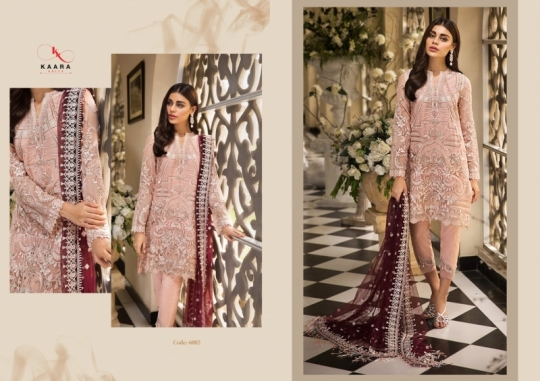 KAARA SUITS ANAYA VOL 1 PAKISTANI GEORGETTE EMBROIDERED SUITS WHOLESALE DEALER BEST RATE BY GOSIYA EXPORT SURAT (5)