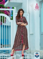 KAJAL STYLE FASHION GALLERIA CATALOGUE RAYON KURTI OCCASIONALLY PARTY WEAR (1)