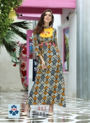 KAJAL STYLE FASHION GALLERIA CATALOGUE RAYON KURTI OCCASIONALLY PARTY WEAR (2)