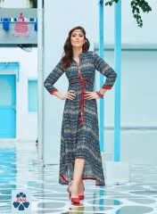 KAJAL STYLE FASHION GALLERIA CATALOGUE RAYON KURTI OCCASIONALLY PARTY WEAR (5)