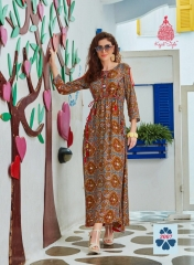 KAJAL STYLE FASHION GALLERIA CATALOGUE RAYON KURTI OCCASIONALLY PARTY WEAR (6)