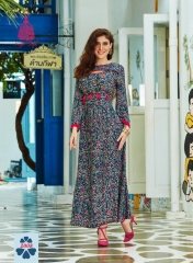 KAJAL STYLE FASHION GALLERIA CATALOGUE RAYON KURTI OCCASIONALLY PARTY WEAR (7)
