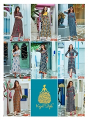 KAJAL STYLE FASHION GALLERIA CATALOGUE RAYON KURTI OCCASIONALLY PARTY WEAR (8)