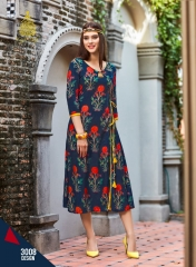 KAJAL STYLE FASHION GALLERIA VOL 3 CATALOG FANCY RAYON PRINTS KURTIS WHOLESALE SUPPLIER BEST RATE BY GOSIYA EXPOR (71)