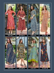 KAJAL STYLE FASHION GALLERIA VOL 3 CATALOG FANCY RAYON PRINTS KURTIS WHOLESALE SUPPLIER BEST RATE BY GOSIYA EXPORTS (1)