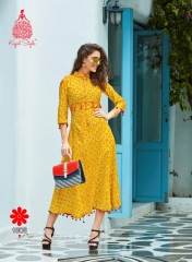 KAJAL STYLE FASHION MONZA VOL 1 CATALOG COTTON EXCLUSIVE TRENDY KURTIES WHOLESALE (6)