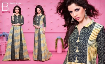KAJREE FASHION RUNWAY RAYON PARTY WEAR KURTIS COLLECTION WHOLESALE SUPPLIER BEST RATE BY GOSIYA EXPORTS SURAT (6)