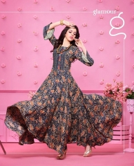 KAJREE FASHION RUNWAY RAYON PARTY WEAR KURTIS COLLECTION WHOLESALE SUPPLIER BEST RATE BY GOSIYA EXPORTS SURAT