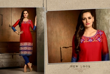 Kajree oxygen 2 georgette kurtis collection BY GOSIYA EXPORTS (3)