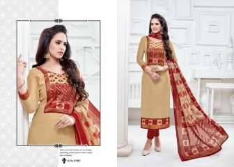 KALA FASHION TINA VOL 97 CHANDERI EMBROIDERED WHOLESALE SALWAR KAMEEZ BEST RATE BY GOSIYA EXPORTS SURAT (9)