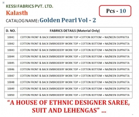 Kalasth lifestyle golden pearl vol 2 dress materials GOSIYA EXPORTS (13)