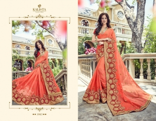 KALISTA FASHION BY RAGINI CATALOGUE DESIGNER PARTY WEAR SAREES COLLECTION WHOLESALE SUPPLIER DEALER BEST RATE B (4097)