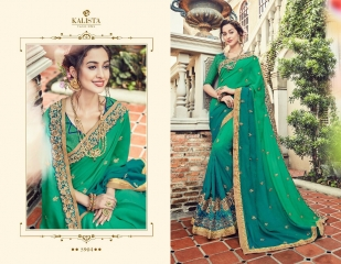 KALISTA FASHION BY RAGINI CATALOGUE DESIGNER PARTY WEAR SAREES COLLECTION WHOLESALE SUPPLIER DEALER BEST RATE B (4098)