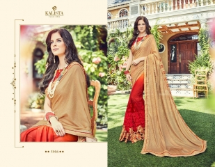 KALISTA FASHION BY RAGINI CATALOGUE DESIGNER PARTY WEAR SAREES COLLECTION WHOLESALE SUPPLIER DEALER BEST RATE B (4100)