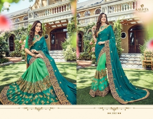 KALISTA FASHION BY RAGINI CATALOGUE DESIGNER PARTY WEAR SAREES COLLECTION WHOLESALE SUPPLIER DEALER BEST RATE B (4101)