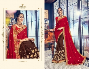 KALISTA FASHION BY RAGINI CATALOGUE DESIGNER PARTY WEAR SAREES COLLECTION WHOLESALE SUPPLIER DEALER BEST RATE B (4102)