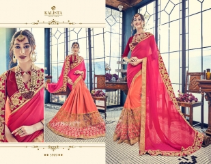 KALISTA FASHION BY RAGINI CATALOGUE DESIGNER PARTY WEAR SAREES COLLECTION WHOLESALE SUPPLIER DEALER BEST RATE B (4103)