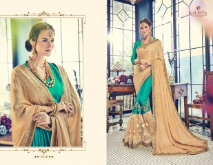 KALISTA FASHION BY RAGINI CATALOGUE DESIGNER PARTY WEAR SAREES COLLECTION WHOLESALE SUPPLIER DEALER BEST RATE B (4104)