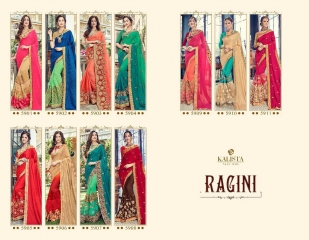 KALISTA FASHION BY RAGINI CATALOGUE DESIGNER PARTY WEAR SAREES COLLECTION WHOLESALE SUPPLIER DEALER BEST RATE B (4106)