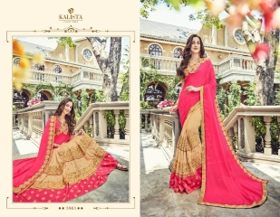 KALISTA FASHION BY RAGINI CATALOGUE DESIGNER PARTY WEAR SAREES COLLECTION WHOLESALE SUPPLIER DEALER BEST RATE B