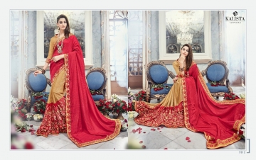 KALISTA FASHION EMPEROR CATALOG FANCY EMBROIDERED PARTY WEAR SAREES WHOLESALE DEALER BEST EXPORTS SURAT (1)