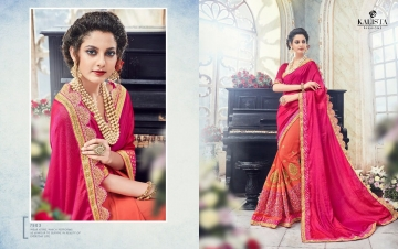 KALISTA FASHION EMPEROR CATALOG FANCY EMBROIDERED PARTY WEAR SAREES WHOLESALE DEALER BEST EXPORTS SURAT (12)