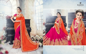 KALISTA FASHION EMPEROR CATALOG FANCY EMBROIDERED PARTY WEAR SAREES WHOLESALE DEALER BEST EXPORTS SURAT (13)