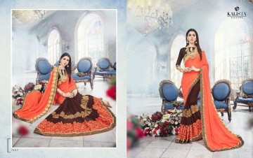 KALISTA FASHION EMPEROR CATALOG FANCY EMBROIDERED PARTY WEAR SAREES WHOLESALE DEALER BEST EXPORTS SURAT (14)