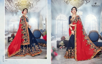 KALISTA FASHION EMPEROR CATALOG FANCY EMBROIDERED PARTY WEAR SAREES WHOLESALE DEALER BEST EXPORTS SURAT (4)