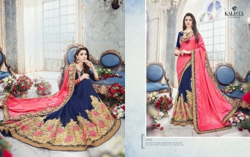 KALISTA FASHION EMPEROR CATALOG FANCY EMBROIDERED PARTY WEAR SAREES WHOLESALE DEALER BEST EXPORTS SURAT (6)